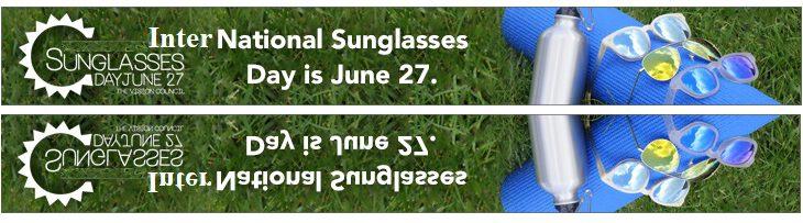 ondersteunt dag van de zonnebril