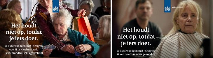 campagneposters dag tegen ouderenmishandeling