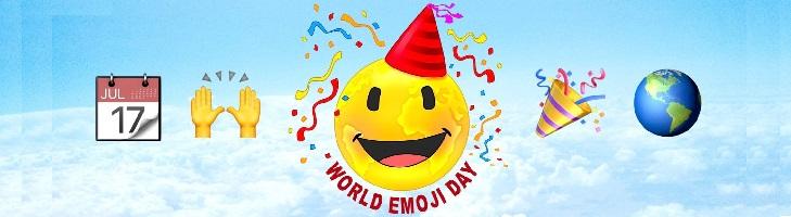 ondersteunt wereld emoji dag