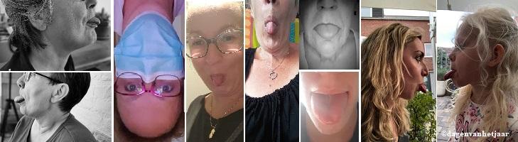 ter ondersteuning van steek je tong uit dag