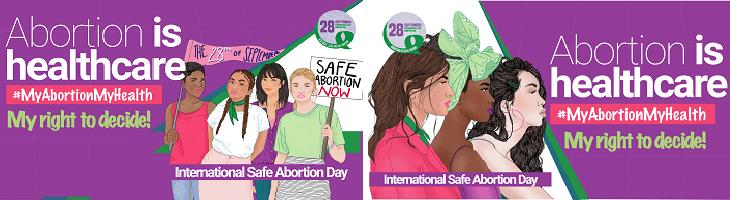 afbeelding ondersteunt veilige abortusdag
