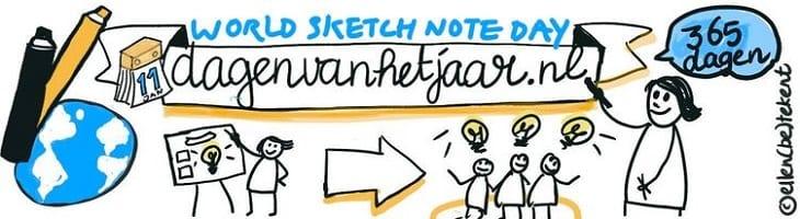 afbeelding versterkt wereld sketchnote dag