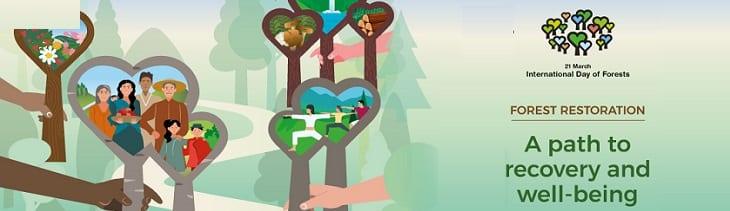 afbeelding versterkt dag van de bossen