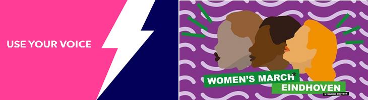 afbeelding versterkt women's march