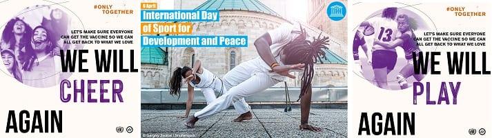 afbeelding versterkt sport en vrede