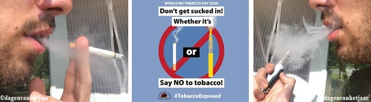 afbeelding versterkt wereld zonder tabak