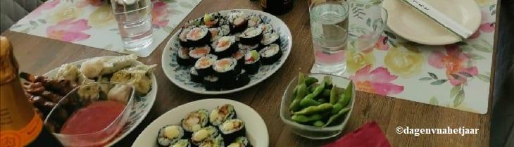 afbeelding versterkt sushi dag