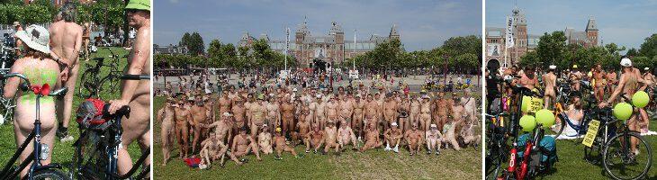 afbeelding versterkt world naked bike ride amsterdam